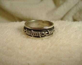 Vintage 1970's Large Sterling Silver Ring
