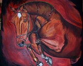 """Jumping Horse Painting - """"Assurance"""""""