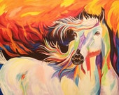 "Colorful Horse Painting - ""Revelation 2"""
