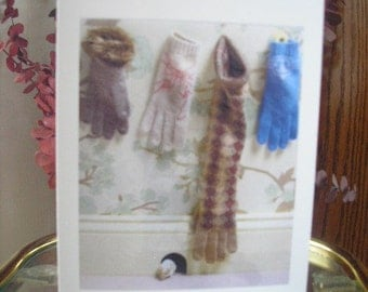 Handcrafted Vintage Note or Greeting Card