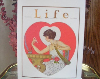 Handmade Note or Greeting Card Valentines Day