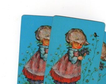 Vintage Single Swap Playing Cards (2) Paper Epherema Scrapbook Supplies Collectible