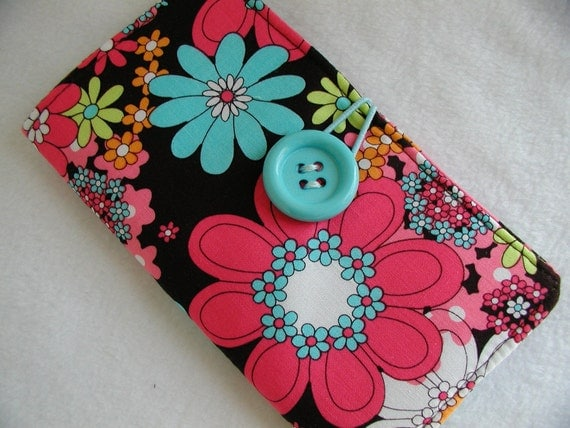 Tampon Clutch - Multi Colored Funky Floral  - Ready To Ship
