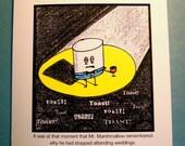 Funny Wedding Card - Cartoon : Marshmallow Wedding Toast