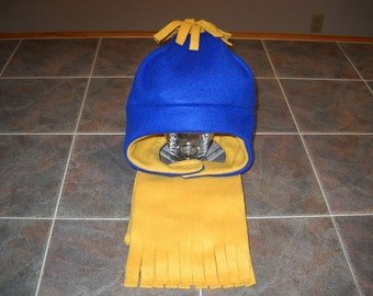 Warm Fleece Hat & Scarf Set