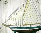 Sailboat Plate David Carter Brown