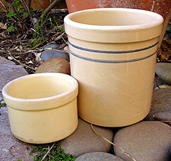 Crocks Vintage Kitchen Stoneware Salt Glaze