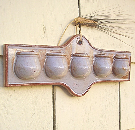 Vintage Garden Planter Wall Pocket Terracotta