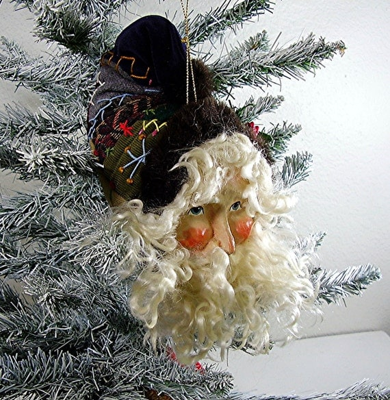 Christmas, Decor, Holiday Ornaments, Denise Calla, House of Hatten, 1988, White Beard, Quilt Hat