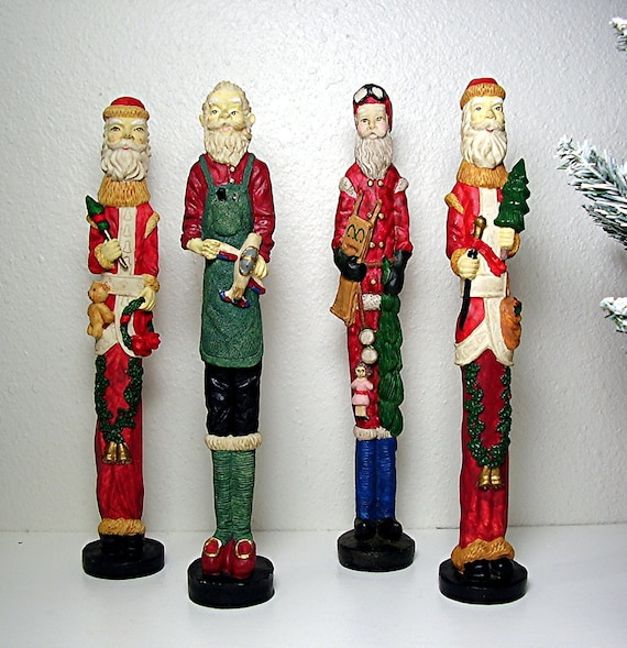 Vintage christmas figurines santa claus world costumes four