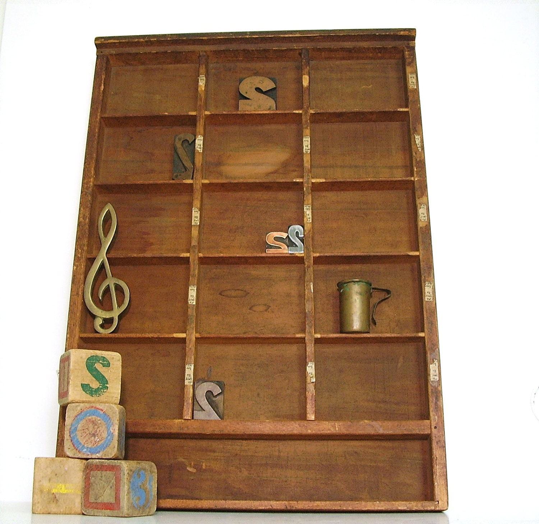 vintage letterpress drawers card - photo #45