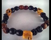 Supernatural Dean Winchester Tibetan Prayer Bead Skull Bracelet