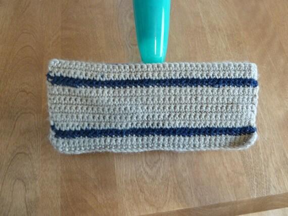 Crochet Swiffer Cover with scrubbing stripes