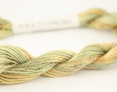 Cotton Perle fiber art size 3 5 10 Embroidery Thread Lemon and lime vairegated hand dyed