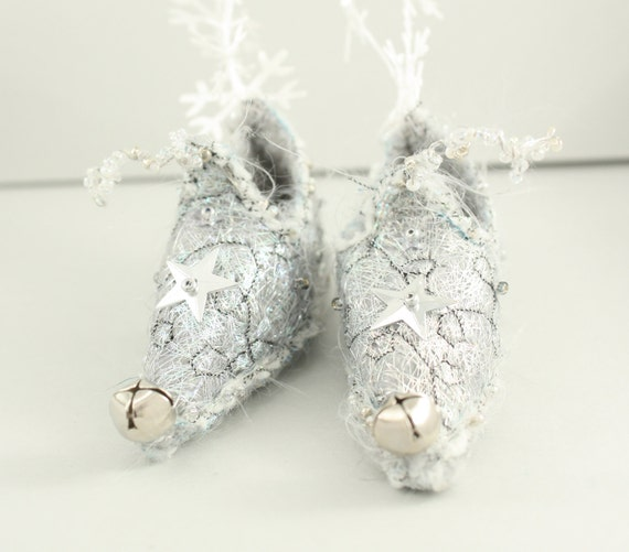 Christmas tree ornament Fairy Shoes Silver belong to Twinkle Bell Fairy
