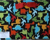 Fabric Covered Magnetic Board - 18x12 - Primary Dinosaurs