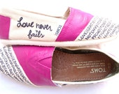 The Ellie - Fuscia and Cream Custom TOMS