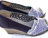 The Violet - Purple Plum and Cream Custom TOMS