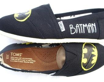 The Batman - Black and Yellow Custom TOMS