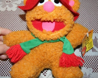Vintage Advertising - Mcdonalds Muppet, Baby Fozzie, Plush Toy with Tags 1988