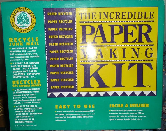 Vintage The Incredible Paper Making Craft Kit by Hounsell and Judd