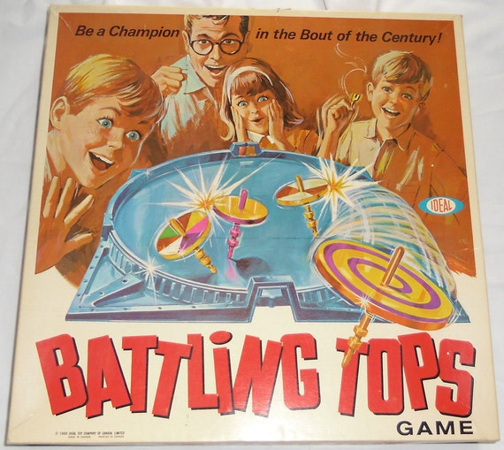 Vintage Game Battling Tops from Ideal 1968 2340-8
