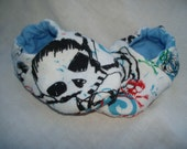 Newborn Baby Shoes Booties Boys - Skulls and Roses