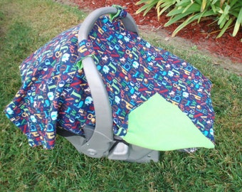Baby Car Seat Cover - Canopy  ABC's ON SALE
