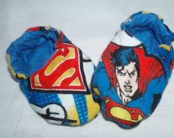 Baby Shoes Booties Boy - Superman