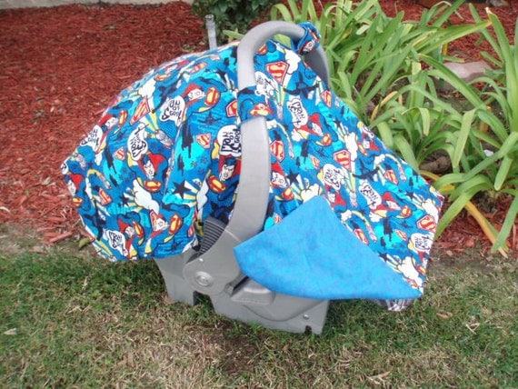 Baby Car Seat Cover Superman