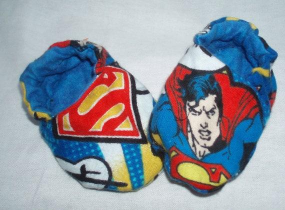 Newborn Baby Shoes Booties Boy - Superman