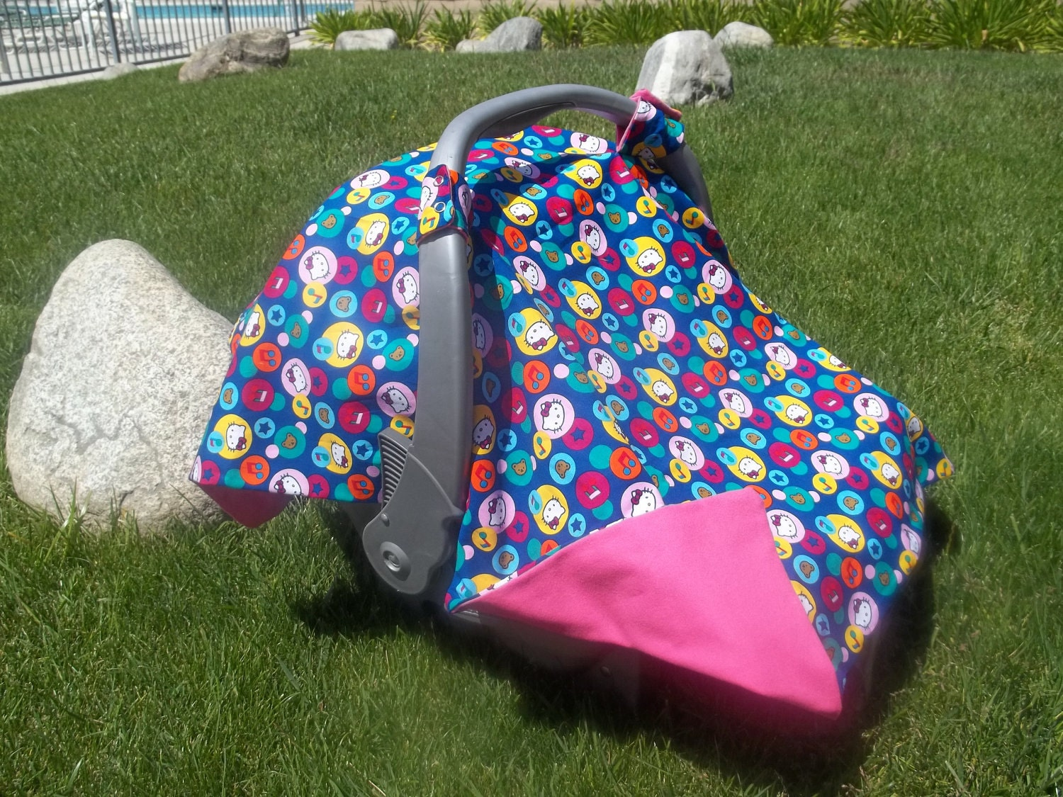 infant car seat cover hello kitty on sale. Black Bedroom Furniture Sets. Home Design Ideas