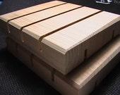 Three Cedar Natural Wood Spa Soap Dish custom sizing available prices may vary