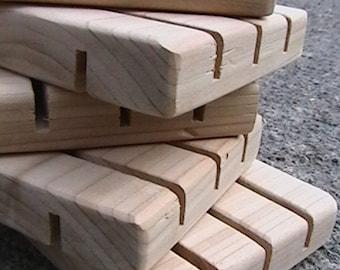 Natural Wood Soap Deck || Spa Soap Dish || 12 pack || Soap Raft ||  Beautiful Cedar Soap Saver || Gifts || Quantity Discount