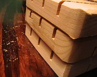 One BLOOPER Cedar Natural Wood Spa Soap Dish Grab Bag Seconds