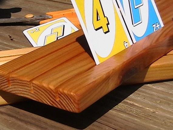 how to make a wood playing card holder