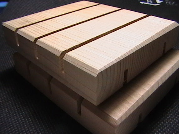 Three Cedar Natural Wood Spa Soap Dish custom sizing available prices may vary