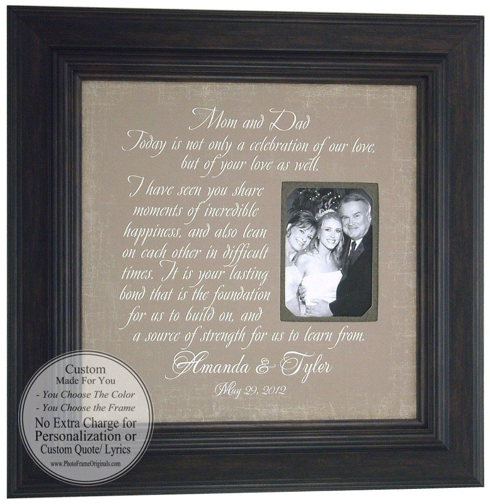 Special Wedding Gifts From Parents : Wedding Sign Thank You Gift MOM & DAD Parents Bride Groom Today A ...