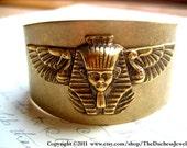 Bracelet bangle, vintage, Egyptian pharaoh