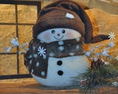 Roly Poly Snowman with Icy Twig Branches