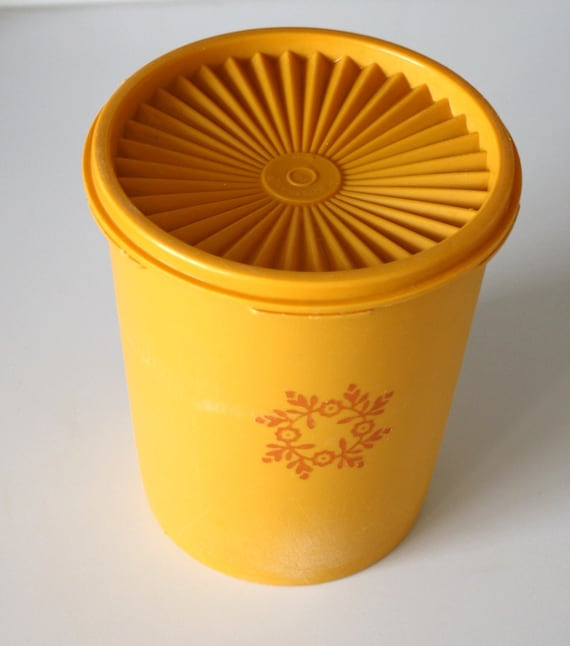 Items Similar To Vintage Yellow Tupperware Kitchen