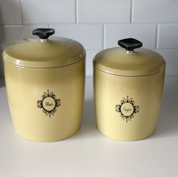Vintage Kitchen Canisters Retro Metal West By