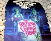 Vintage Movie Poster, Theater Lobby Standup Display.  Return of the Living Dead, 1980s, Horror Flick, Zombie Movie, Collectible, Standee.