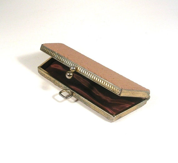 Vintage Clutch Purse, Glasses Case, Minaudiere, Ladies Wallet.  Midcentury.  Mini, Ecru, Gold, Mauve, Chocolate.