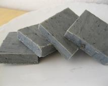 Black Coal Soap Sheriff Shaving Soap - Old West Activated Charcoal Mens' Shaving Soap 1oz Gunpowder, Leather, Sandalwood