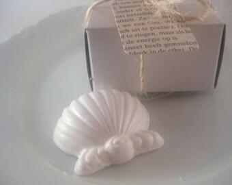 50 Wedding Favors Sea Shell Party Favors Nautical Beach Cottage Theme Glycerin Soap VEGAN