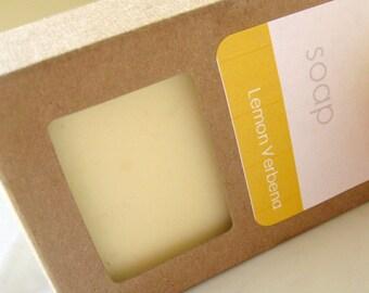 Lemon Verbena Handmade Soap Bar Vegan Castile Soap Hot process Citrus Soap Herbal Soap Bath Soap