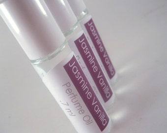 Perfume Oil Roll On - Jasmine Vanilla Floral Cologne 7ml Paraben Free