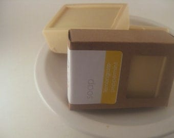 Handmade Herbal Soap, Lemongrass Peppermint, Refreshing Scent, Natural Essential Oil Soap, Hot process Bath Bar Soy Free