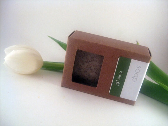 Handmade Soap Bar - VEGAN Hula Girl Tropical Sea Kelp Soap with Macadamia Nut Oil